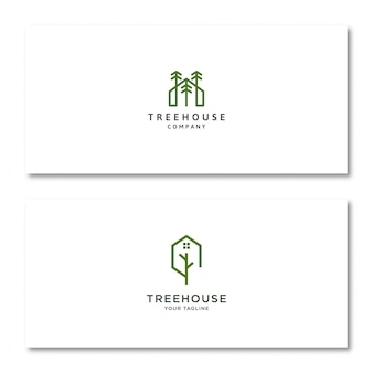 Tree house logo in card