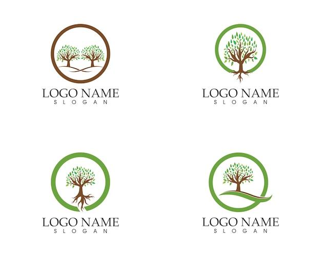 Концепция значка дерева стилизованного дерева