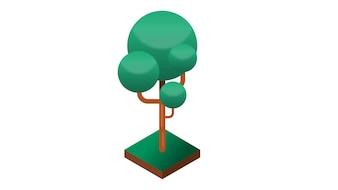 木の孤立したベクトル図