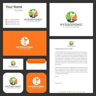 Tree leaf logo and business card