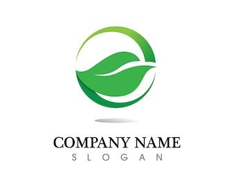 Tree leaf logo design, eco-friendly concept.