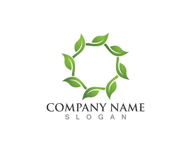 Tree leaf logo, eco-friendly concept