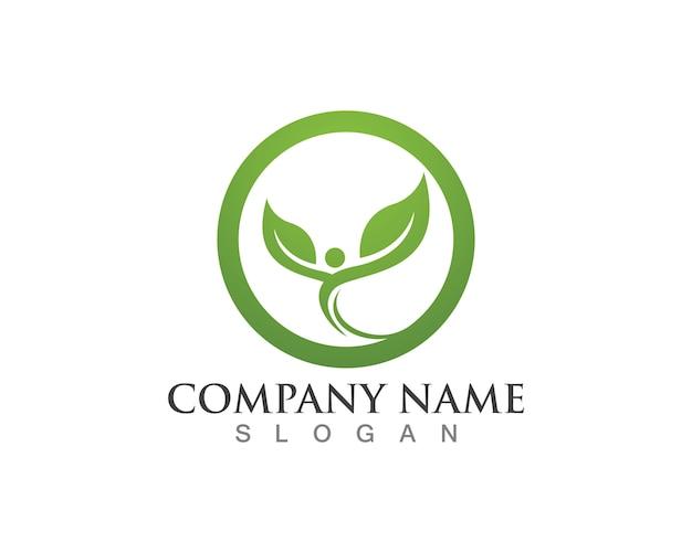 Tree leaf logo, eco-friendly concept