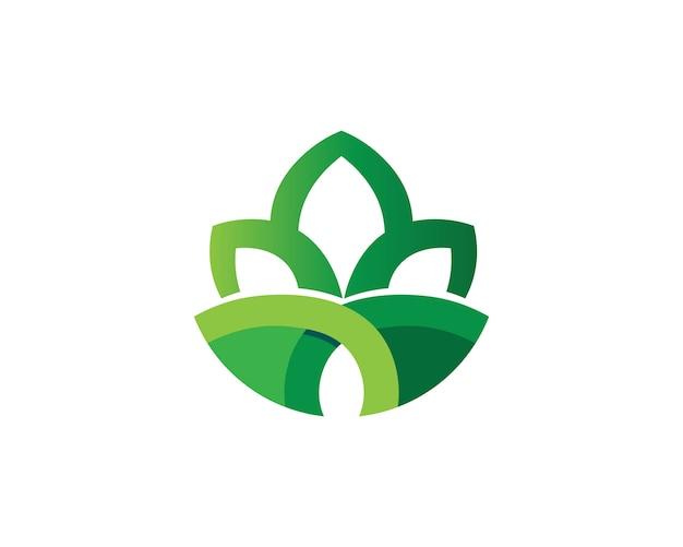 Tree leaf vector logo design