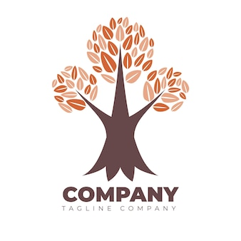 Шаблон логотипа компании tree life