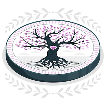 Tree life concept illustration