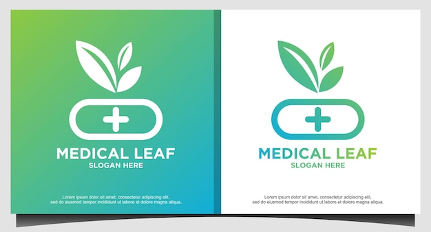 Tree life drug store medical logo design vector