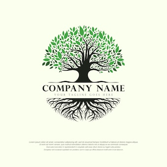Tree of life logo abstract vector illustration template design on white background