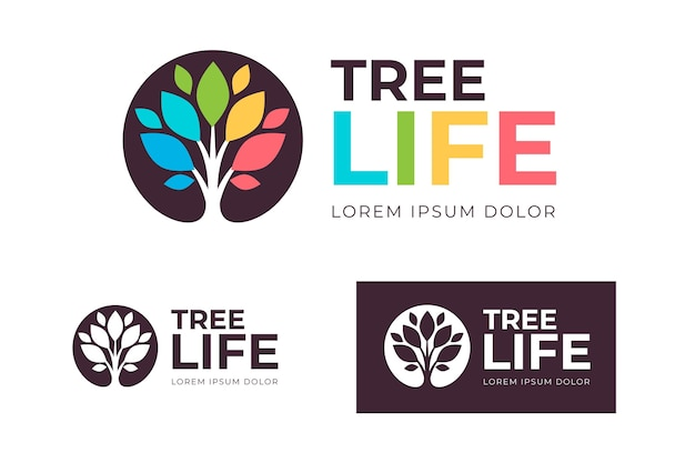 Tree life logo collection