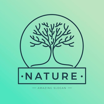 Tree life logo flat design