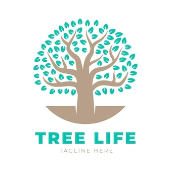 Tree life logo template with tagline