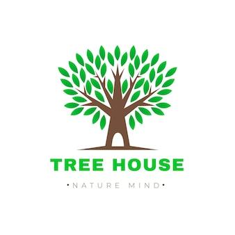 나무 생활 로고 템플릿