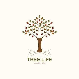 Tree life logo template