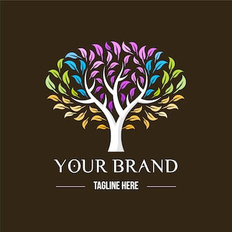 Tree life logo theme