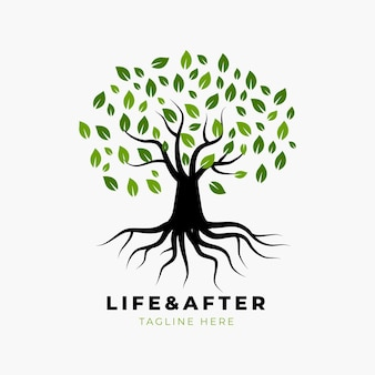 Logo della vita dell'albero