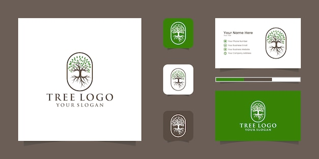Tree   logo and business card
