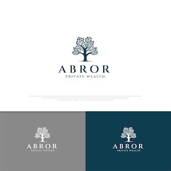 Дерево логотипа бизнес-дизайн