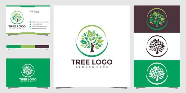 木のロゴのデザインと名刺