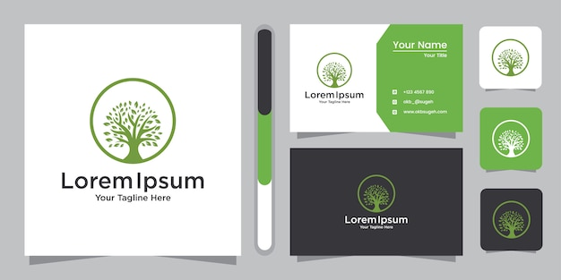 Tree logo design and business card