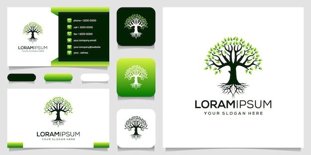 Дерево логотип дизайн