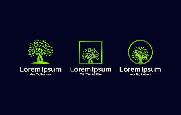 나무 로고 디자인.