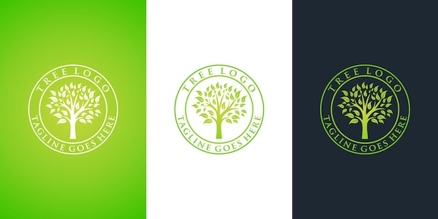 나무 로고 디자인