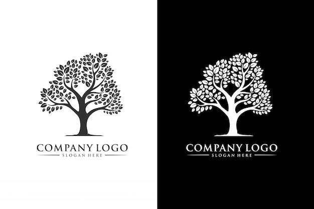 Дерево логотип вдохновение современный дизайн