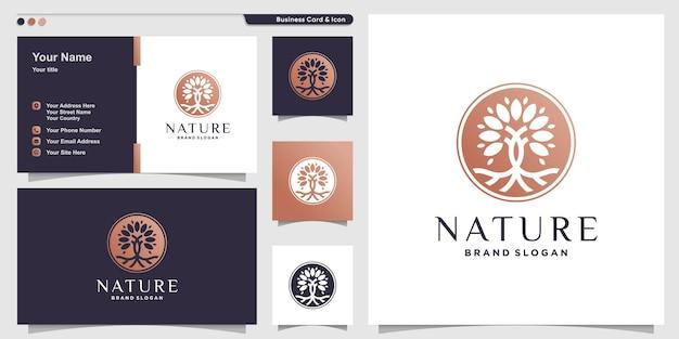 Шаблон логотипа tree с простой креативной концепцией premium векторы
