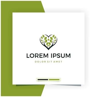 Tree love or leave love logo design