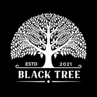 Древо жизни дуб баньян лист и корень печать эмблема штамп дизайн логотипа вдохновение