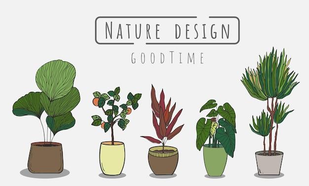 Tree painting set indoor and outdoor landscape garden