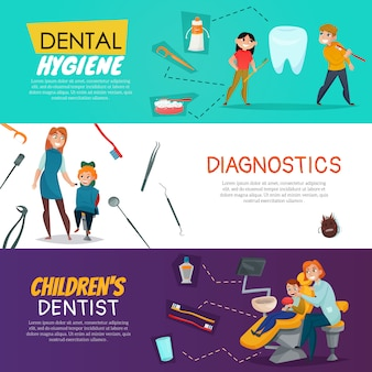 Tree pediatric dentistry with dental hygiene diagnostics for children