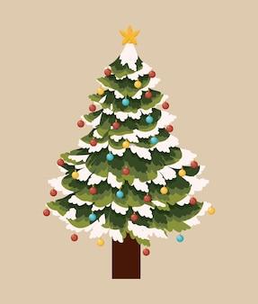 Tree pine christmas icon vector graphic illustration
