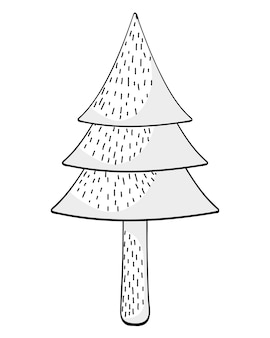 Дерево сосны рисунок мультфильм