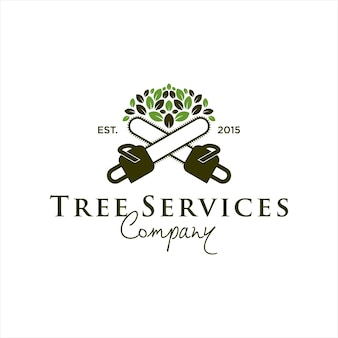나무 서비스 로고 디자인 템플릿 아이디어