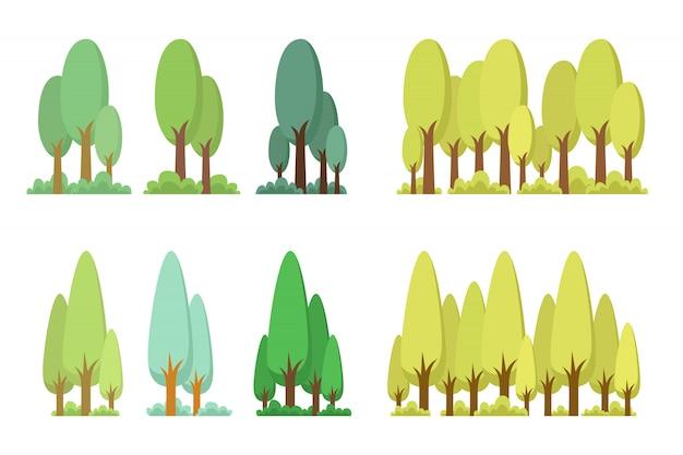 木は白い背景のイラストを設定