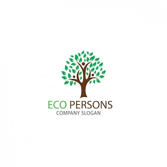 Tree shape logo template