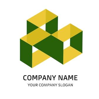 Tree square company logo vector template