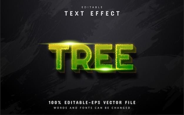 나무 텍스트 효과