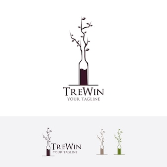 Шаблон логотипа дерева