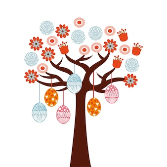 Tree with easter eggs