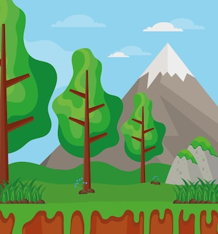나무와 산