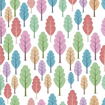 나무 colorfull 원활한 패턴