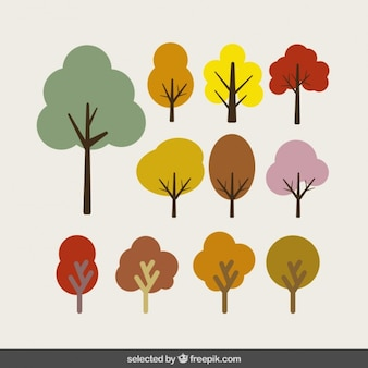 Trees in differents colors collection