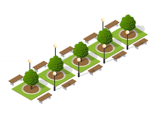 公園のベンチの木