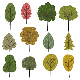 Trees vector elements