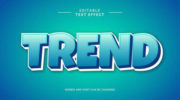Trend blue sky 3d editable text effect template