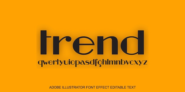 Trend editable text effect on yellow