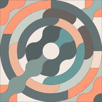 트렌드 기하학적 패턴입니다. 단순한 모양의 기하학 최소한의 아트웍 포스터