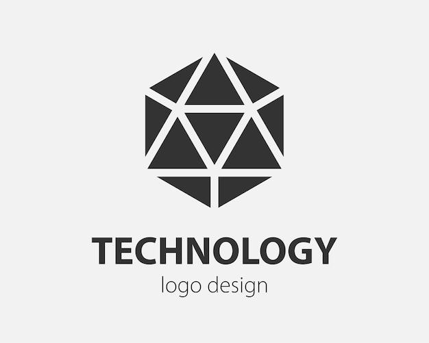 트렌드 로고 육각형 기술 디자인